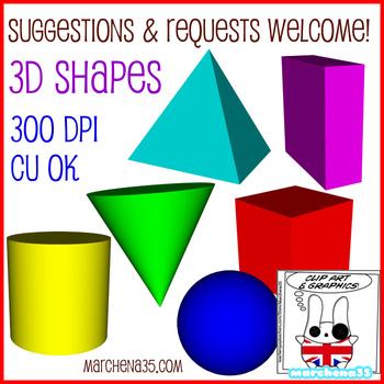 FREE! 3D Shape Clip Art Images - Commercial Use OK