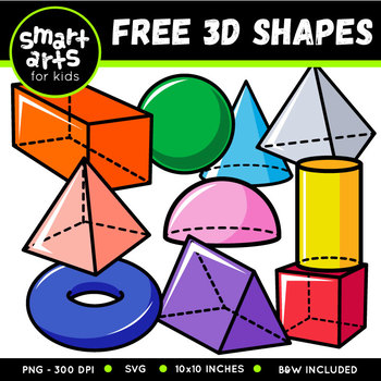 FREE 3D Shapes Cliparts