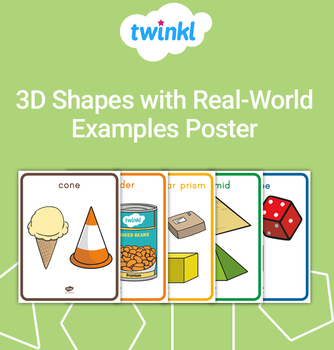 FREE 3D Shapes with Real-World Examples Posters