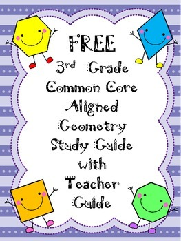 FREE 3rd Grade CCS Geometry Study Guide