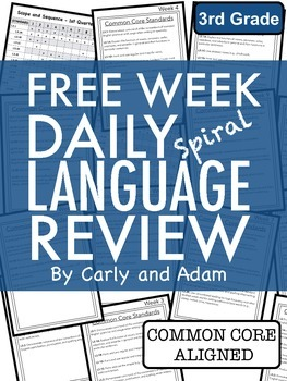 FREE 3rd Grade Daily Language Review: Week 1