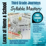 Syllable Mastery - 3rd Grade:  FREE - Lesson 1