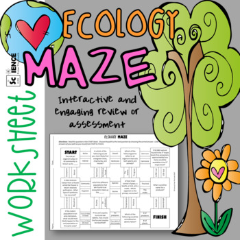 Ecology Maze Worksheet for Review or Assessment