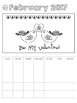 FREE - 4 Differentiated Student Calendar for February  2017