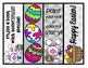 FREE 4 Easter Treats Bookmarks Happy Easter Color/Black and White