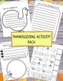 FREE 4-Page Thanksgiving Activity Pack