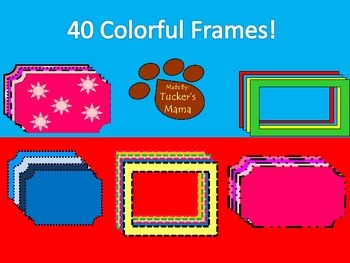 {FREE} 40 Colorful Frames