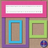 40 Polka Dot Borders, Labels & Name Tags
