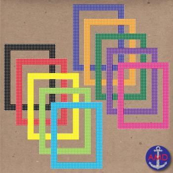40 Polka Dot Borders, Labels & Name Tags