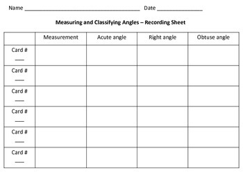 **FREEBIE**  4.7C & 4.7D Measuring and Classifying Angles Task Cards