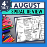 FREE 4TH GRADE Homework Morning Work for MATH - BACK TO SC