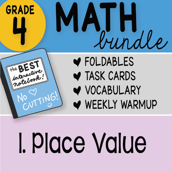 Doodle Notes - FREE! 4th Grade Place Value Interactive Notebook Bundle 1