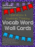 FREE 4th Grade Common Core Vocabulary Word Wall: Operation