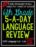 6th Grade Daily Language Spiral Review - 1 Week FREE
