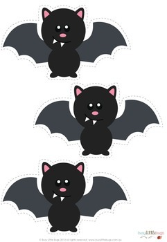FREE 5 Little Bats Poem and Finger Puppets
