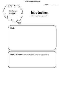 FREE 5 Paragraph Opinion/Persuasive Writing Graphic Organizer