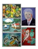 **FREE**  5 Senses: Blind Artist Art Picture Cards & Lesson Ideas {Montessori}
