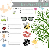 FREE 5 Senses Nature Walk Worksheet