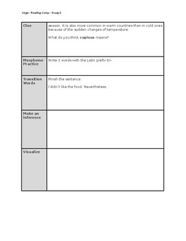 FREE! 5 a day - Daily Routine for Reading Comprehension