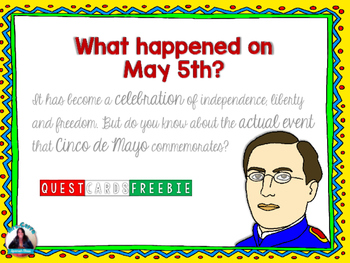 FREE 5 de Mayo QUEST CARDS(What really happened on May 5th?) English and Spanish