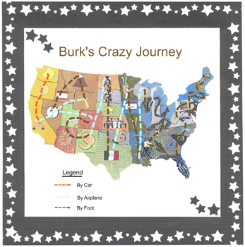 50 STATES MAP AND PUZZLE PIECES FOR WA-TX