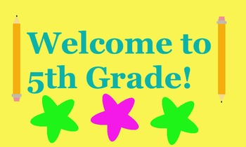 FREE 5th Grade Back to School Banner