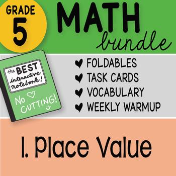 Doodle Notes - FREE 5th Grade Math Bundle 1.Place Value FREE