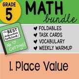Math Doodle - FREE 5th Grade Math Bundle 1. Place Value FR