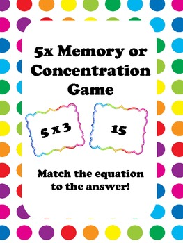 FREE 5x Memory or Concentration Game