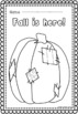 FREE!!! 6 Fall / Autumn Coloring Pages. Large images for younger children.