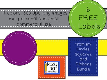 FREE 6 Labels {Kady Did Doodles}