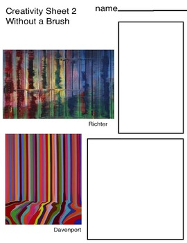 Art ... FREE! Techiniques for Painting without Brush (3 Pages) Mod Abstract Art
