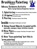 Techniques for Painting without Brush (3 Pages) Mod Abstract Art
