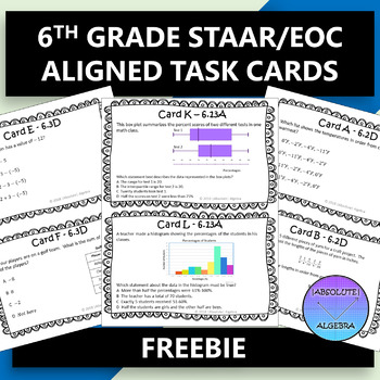 6TH GRADE STAAR EOC TASK CARDS FREE