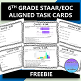 6TH GRADE STAAR EOC TASK CARDS FREE
