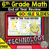 FREE 6th Grade Math End of the Year Review in Google Slide