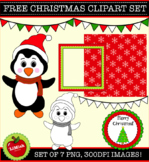 FREE!!! 7 Piece Christmas Clip Art Set for commercial or personal use.
