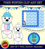 FREE!!! 7 Piece Winter Clip Art Set (Moveable images)