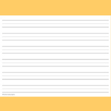 FREE! 72pt 1 inch Lined Writing Paper for Pre & K Handwrit