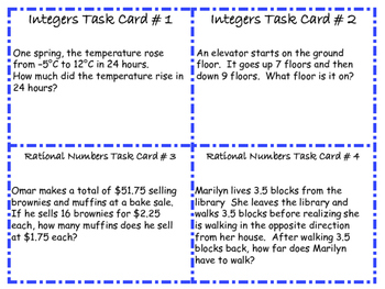 free 7th grade math common core word problem task cards 16 cards. Black Bedroom Furniture Sets. Home Design Ideas