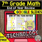 FREE 7th Grade Math End of the Year Review in Google Slide