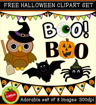 FREE!!! 8 Piece Halloween Clip Art Set for commercial or personal use.
