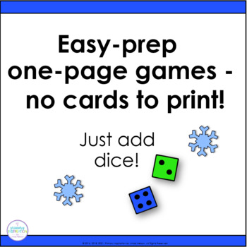 FREE 8 Winter Math Games for First Grade