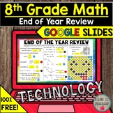 FREE 8th Grade Math End of the Year Review in Google Slide