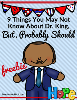 FREE: 9 Facts About Martin Luther King, Jr. * Black History Resource * MLK