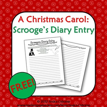 scrooge s diary Entry for, a personal exploration of a christmas carol we offer  tiny tim's  ailment bob cratchit and  constitute a diary of artistic director freedman's.
