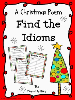 FREE- A Christmas Poem (Find the Idioms)