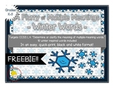 FREE: A Flurry of Multiple Meaning Words - A QUICK-PRINT Winter Activity