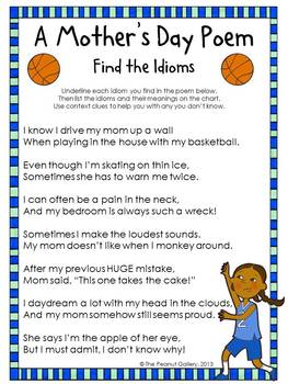 (FREE) A Motheru0027s Day Poem: Find The Idioms