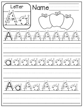 free a z handwriting practice by the moffatt girls tpt. Black Bedroom Furniture Sets. Home Design Ideas